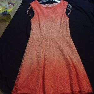 Peach colored dress